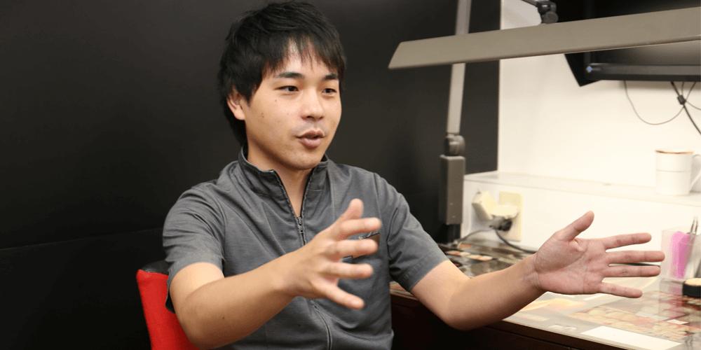 将来のビジョンを語る歯科技工士内田さん