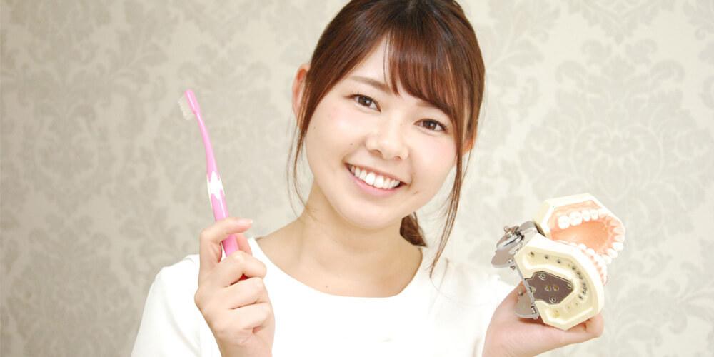 オーラルプロポーションクリニックを選んだ理由を語る歯科衛生士佐藤さん